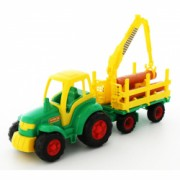 Tractor cu remorca lemne - Champion 68x22x26 cm Polesie