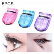 5PCS Mini Macaron Shape Eyelash Curler,Random Color Delivery
