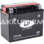 Landport YTX12-BS 12V 10Ah motorkerékpár akkumulátor bal+ (+AJÁNDÉK!)