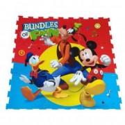 Covor puzzle din spuma Mickey Mouse 91 x 91 cm cu 9 piese