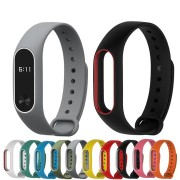 Bakeey Double Color Replacement Silicone Wrist Strap Watch Band for XIAOMI Miband 2