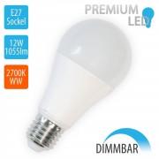 V-TAC - 12W LED E27 A60 Globe DIMMBAR, 2700K Warmweiß,1055lm