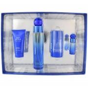 Set Very Blue 4 Pzs 100 Ml Eau De Toilette Spray + Shower Gel 50 Ml + Desodorante Stick 75G + 7.5 Ml Eau De Toilette Spray De Perry Ellis
