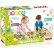 Cuburi mari de construit DOLU 48 piese Multicolor