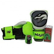 Kit Luva Boxe/Muay Thai Naja Colors + Bandagem + Protetor Bucal 16Oz - Unissex