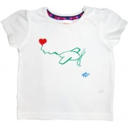 Tricou fete pictat manual, 3-6 luni, Love Airplane
