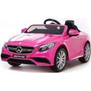 Mașinuță electrică Mercedes-Benz S63 AMG, EVA roți, suspensie, 12V, 2.4 GHz cu telecomandă