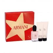 Giorgio Armani Sì Fiori confezione regalo eau de parfum 50 ml + lozione corpo 75 ml + doccia gel 75 ml donna
