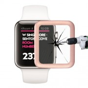 Link Dream for Apple Watch Series2 38mm Premium Glass Film 0.2mm Real Tempered Glass with Full Cover Metal Edge Screen Protector(Rose Gold)