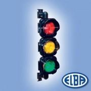 Közlekedési jelzőlámpa PRIMO 3x15W piros/sárga/zöld a kereszteződésben első jármű irányítására IP66 Elba