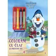 Disney. Regatul de gheata. Sarbatori cu Olaf. Coloram cu Olaf si prietenii lui. Contine 4 creioane cerate/***