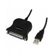 ADAPTOR LOGILINK USB2.0 la PARALEL (D-Sub 25 pin) (T/M) - UA0054A
