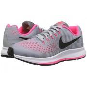 Nike Zoom Pegasus 34 (Little KidBig Kid) Wolf GreyBlackCool GreyRacer Pink