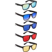 NuVew Wayfarer Sunglasses(Yellow, Green, Blue, Violet, Red)