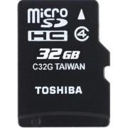 Card de memorie Toshiba M102 microSDHC, 32GB, Clasa 4 + Adaptor SD