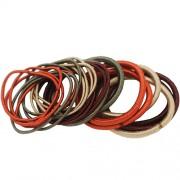 Set elastice de par, 8 buc X 4 mm, 16 buc X 2 mm, Multicolor
