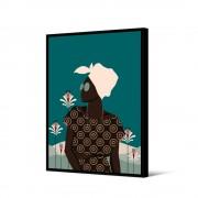 Pôdevache Kazumba - Toile imprimée femme 92,5x65cm