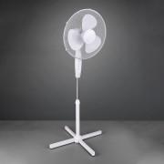 Bergen pedestal fan, height-adjustable, white
