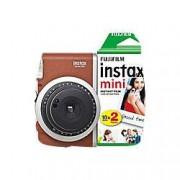 Fuji Instant Camera Instax Mini 90 Brown + 1 x 10 shot film pack, 1 x 20 shot film pack