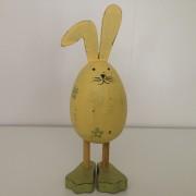 Coniglietto di legno colore verde/giallo