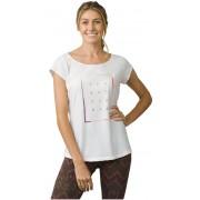 Prana Doamnelor t-shirt Longline Tee White S