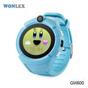 Ceas inteligent pentru copii WONLEX GW600 Albastru cu GPS, telefon, localizare WiFi, ecran touchscreen color, monitorizare spion