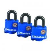 Set 3 ks visacích zámků Master Lock odolných povětrnostním vlivům 312EURTRI