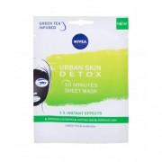 Nivea Urban Skin Detox 10 Minutes Sheet Mask маска за лице 1 бр за жени