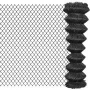 vidaXL Gard plasă de sârmă din oțel, 15 x 1,5 m, gri