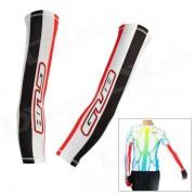 GUB XT-020 Deportes Ciclismo Bicicleta Bloqueador solar UV Oversleeves Proteccion - Rojo + Negro (par / tamano XL)