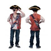 Tricou 3D pirati 4-5 ani, cod FF411092