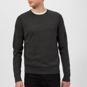 Michael Kors Men's Cotton Crew Neck Knitted Jumper - Charcoal - XXL - Grey