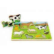 Hape-Wooden Farm Animals Stand Up Puzzle