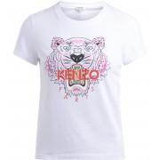 Kenzo T shirt Kenzo Tigre in cotone bianco con logo multicolor