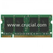 Crucial - DDR2 - 1 Go: 2 x 512 Mo - SO DIMM 200 broches - 667 MHz / PC2-5300 - CL5 - 1.8 V - mémoire sans tampon - non ECC