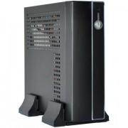 CASE, E-mini 3002, Mini-ITX, Black/Silver (CASEM3002SDC5A)