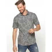 Only & Sons Camisa hombre manga corta estampado ONLY & SONS gris pinstripe L