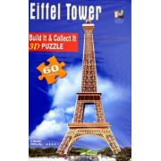 Eiffel Tower 3D PUZZLE 60 PIECES Numbered