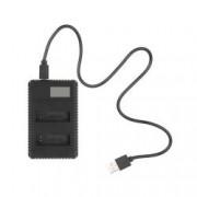 Incarcator dual baterii GoPro Hero 56 cu ecran indicator de incarcare