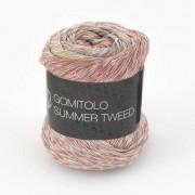 Lana Grossa Gomitolo Summer Tweed von Lana Grossa, Petrol/Braun/Grège/Zartgelb/Rotbraun