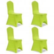 vidaXL Stolsöverdrag 4 st grön
