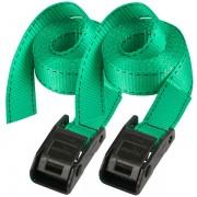 Set 2 ks upínací popruhy Master Lock 3110EURDATCOL - zelený - 250cm