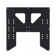 Xinwoer Accesorios de impresora 3D de placa de aluminio, Accesorios de impresora 3D Placa de soporte de aluminio Z para cama caliente I3/Anet A8 A6
