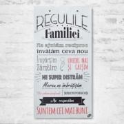 Tablou REGULILE FAMILIEI