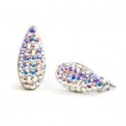 Mandula Swarovski® kristályos nemesacél fülbevaló - Crystal AB