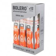 Bolero Pack de 12 Drinks Sticks Laranja vermelha 36 g