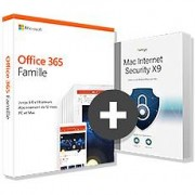 Microsoft Pack Office 365 Famille + Intego Internet Security X9 - 5 postes - 1 an