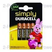 Duracell Simply AAA 4 Pack