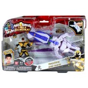 Bandai Year 2012 Power Rangers Samurai Series Action Figure Zord Vehicle Set - OCTO ZORD with 4 Inch Tall Light Gold Octopus Mega Ranger Antonio and Removable Mask