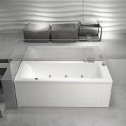 Vasca da bagno idromassaggio rettangolare Mambo Pool 170x70 cm sinistra con pannelli bianco